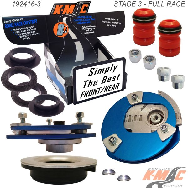 K-MAC BMW front camber & caster kit 192416-3 with box.